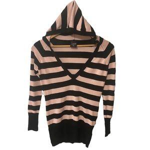 Oversized Striped Garage Hoodie Sweater Emo Punk